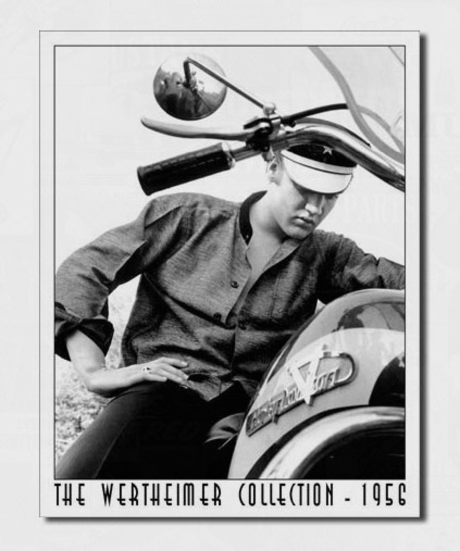 Tin Sign Elvis on Bike image 0