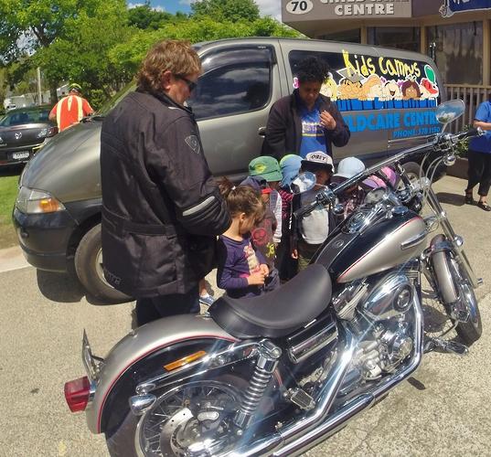Harley visit to Kids Campus Daycare Tauranga