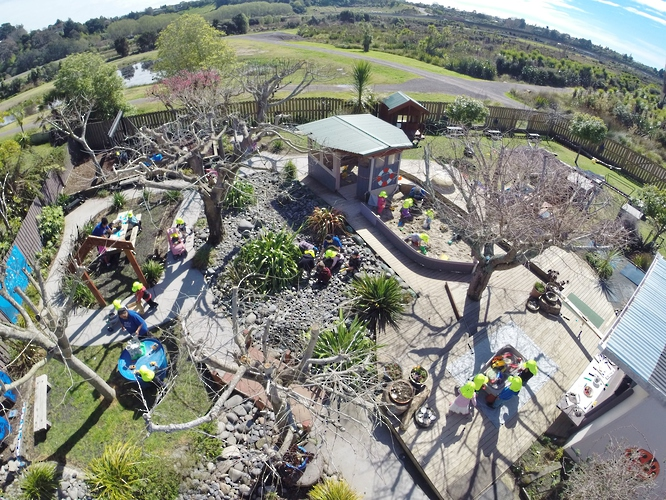 Childcare centre Tauranga outdoor area