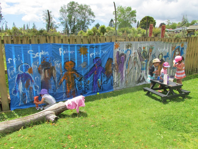 Creative art at Kids Campus Childcare in Tauranga