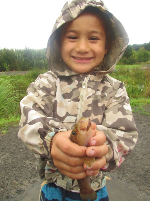 children fishing hildcare