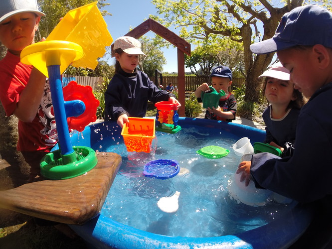 Water play at Kids Campus Childcare Centre