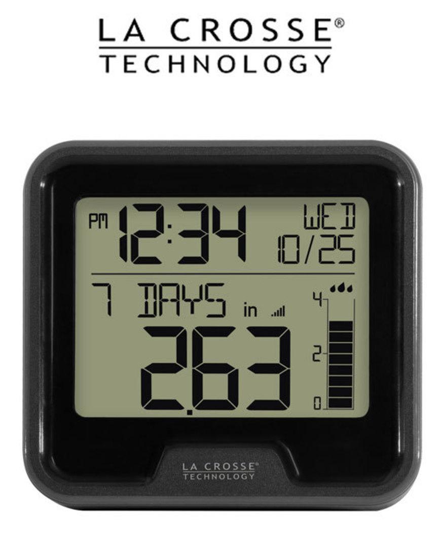 724-1409 La Crosse Digital Rain Gauge with Indoor Temperature image 0