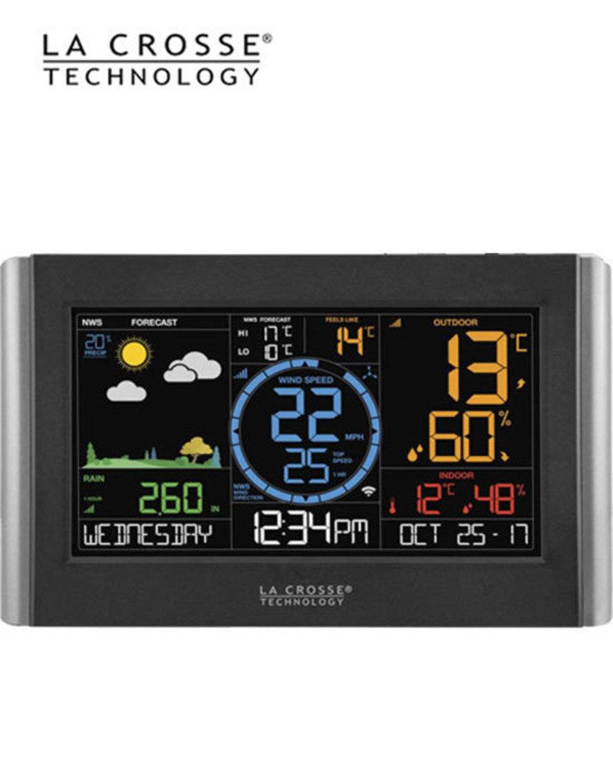 V22-WRTH-INT La Crosse Prof WIFI Colour Weather Station image 1