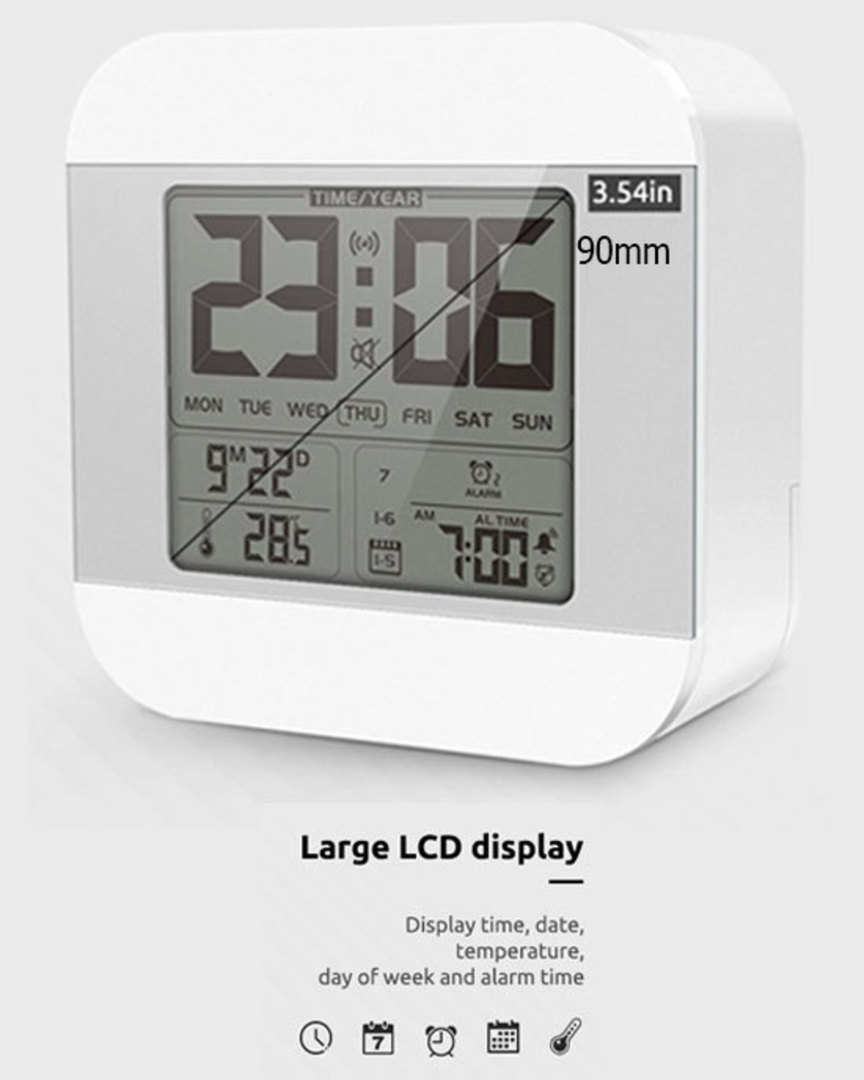 Smart Talking Clock Time and Temperature Speaking image 2