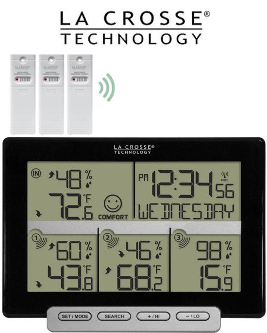 308-1412-3TX La Crosse Weather Station with 3 Remote Sensors image 0