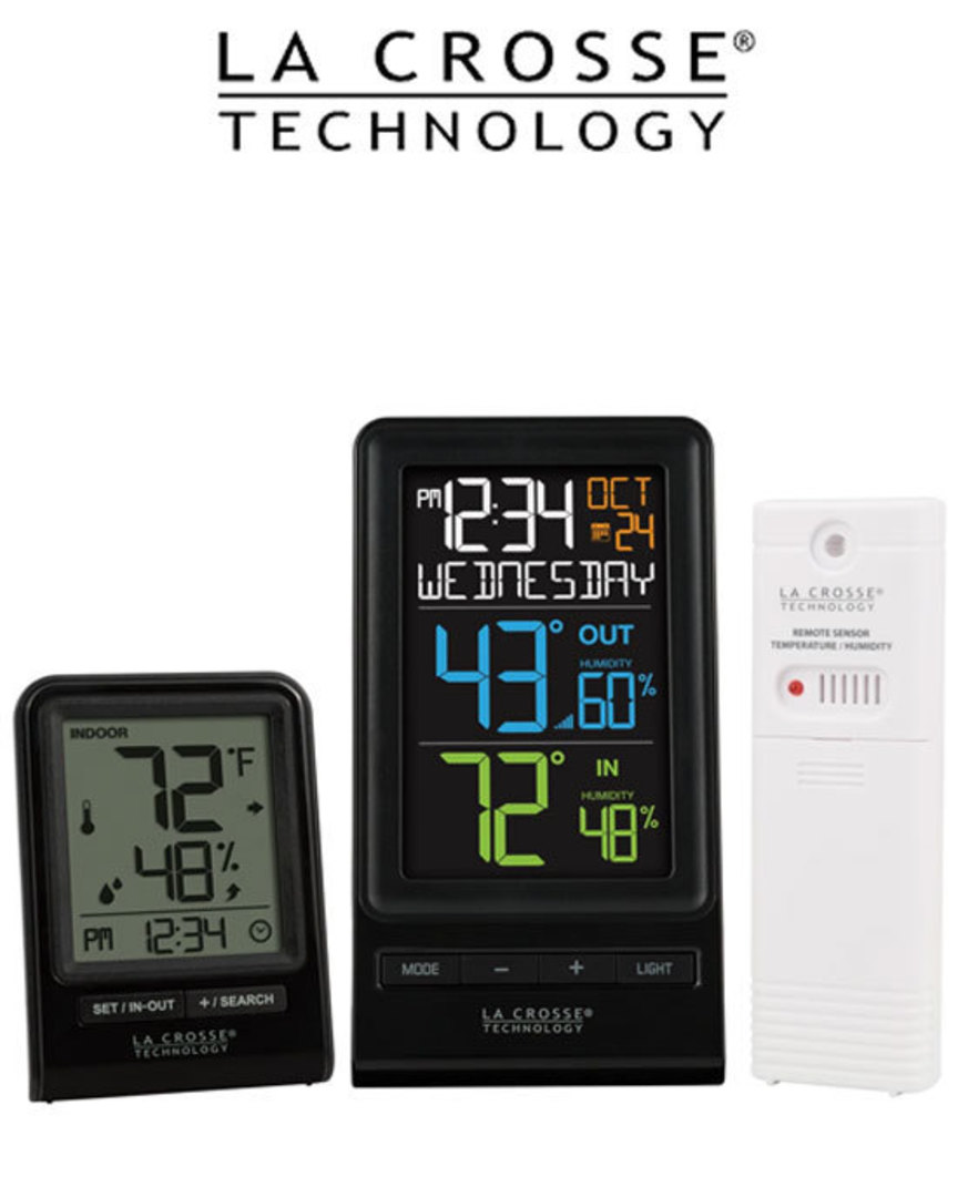 La Crosse 308-1415TH and 308-1409TH Wireless Weather Station Combo image 0