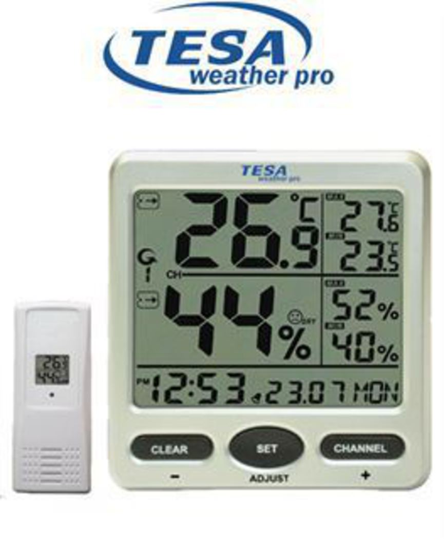 WS710 TESA Thermo Humidity Indoor/Outdoor 8-Channel Station image 0