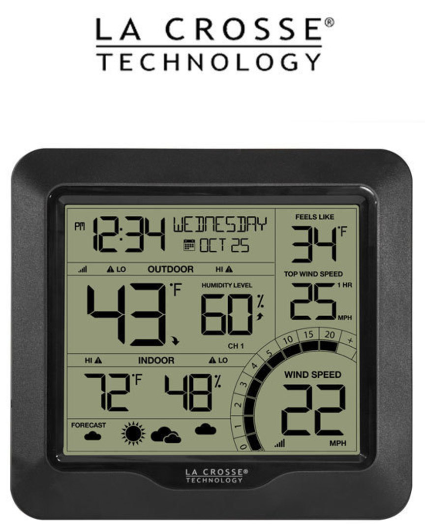 327-1417BW Professional B/W Wind Speed Weather Station image 1