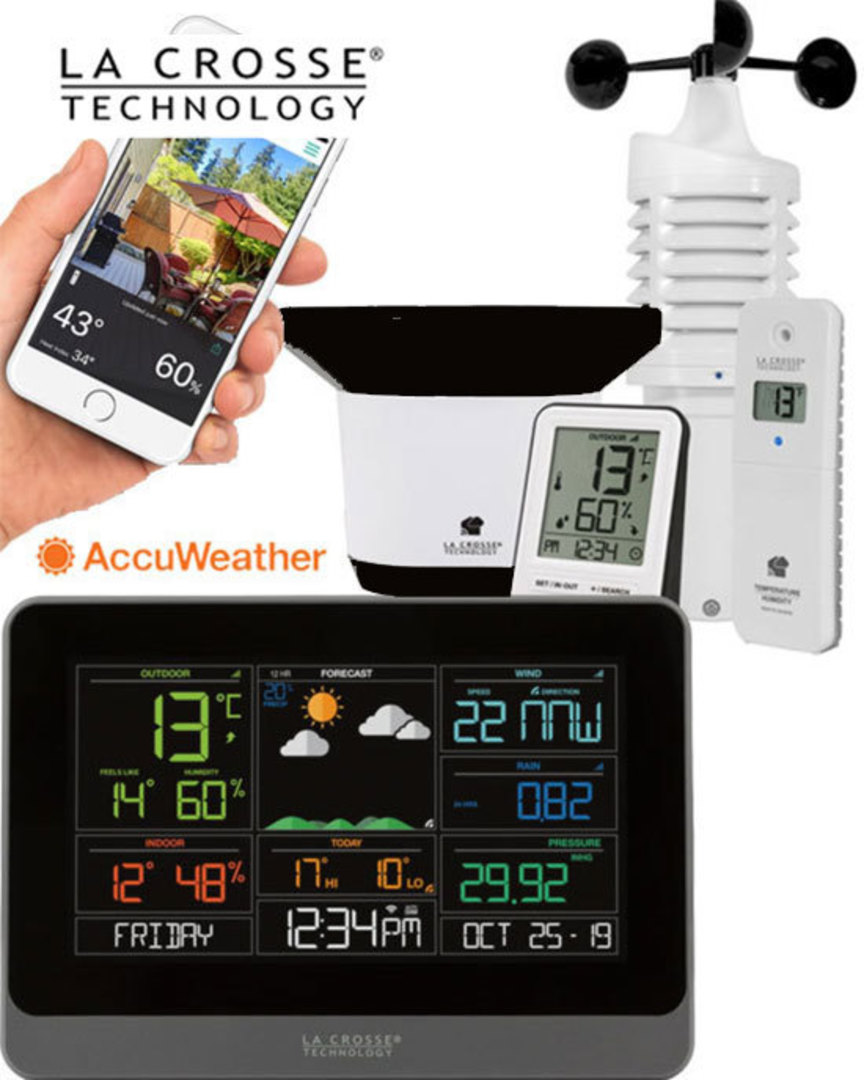 V30V2 Complete Personal WIFI Weather Station with ACCUWEATHER image 0