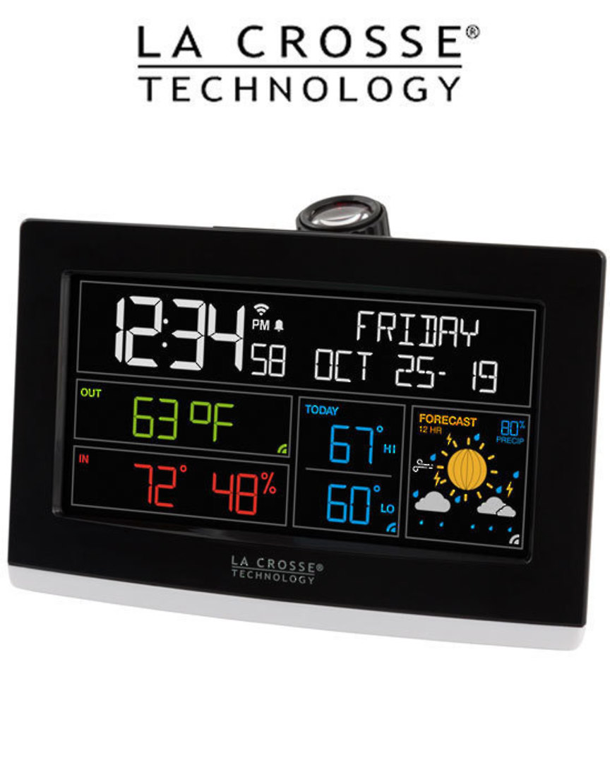C82929 WIFI PROJECTION ALARM CLOCK WITH ACCUWEATHER image 0