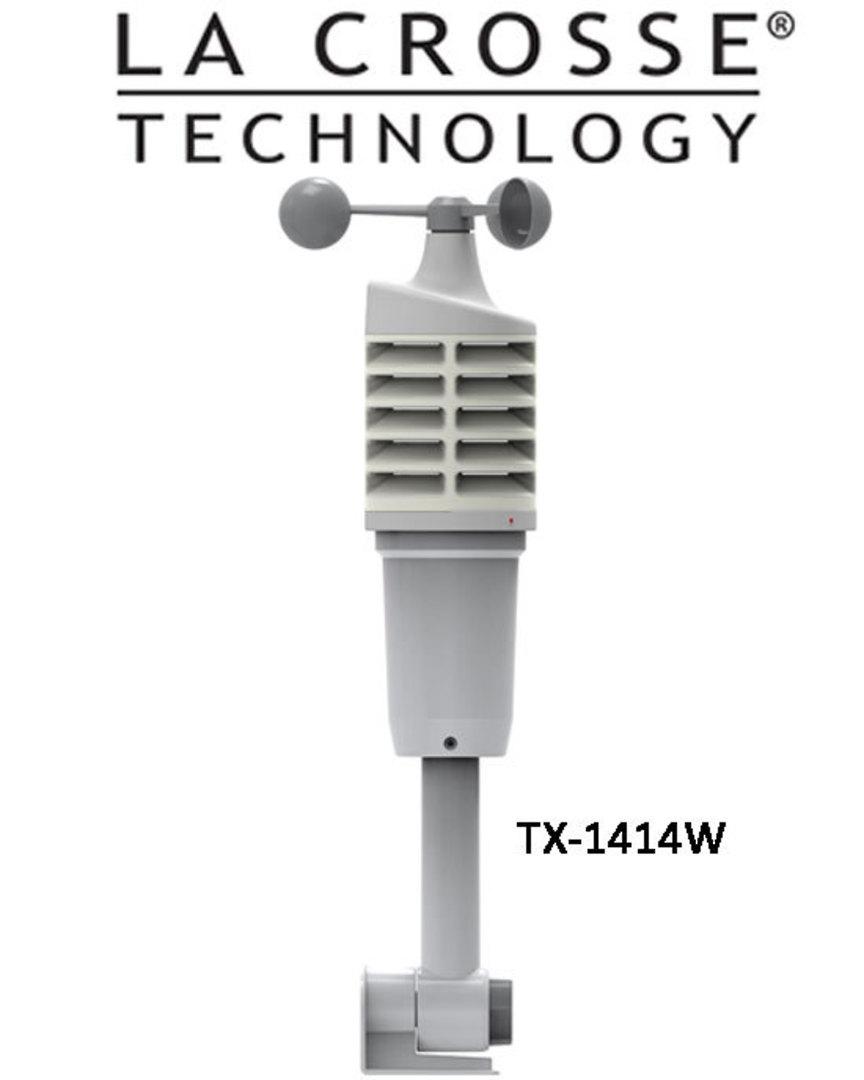 327-1414W Ver2 use EQV 327-1417 Ver2 La Crosse Wind Speed Colour Weather Station image 1