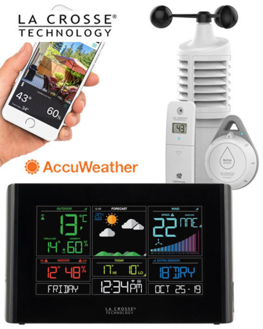S82950 WIFI WIND WEATHER STATION ACCUWEATHER FORECAST image 0