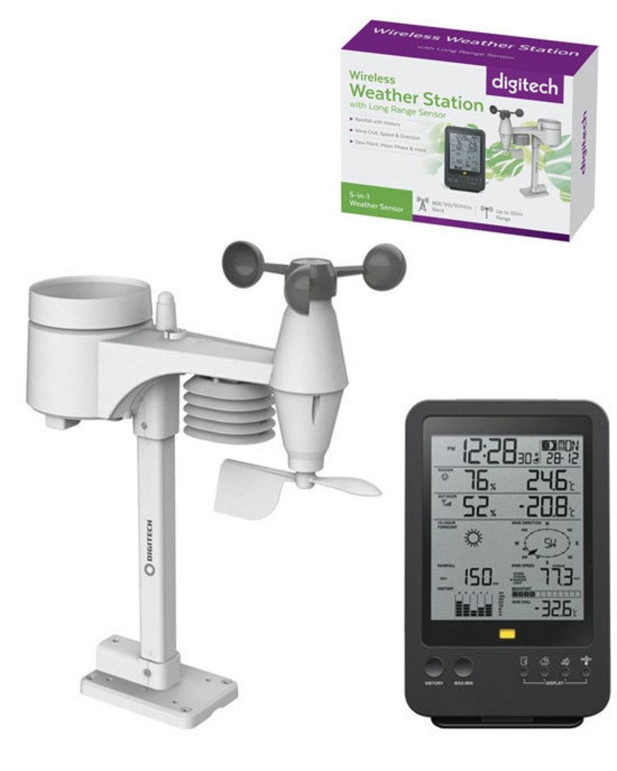 XC0432 DIGITECH Wireless Digital B/W Weather Station image 0