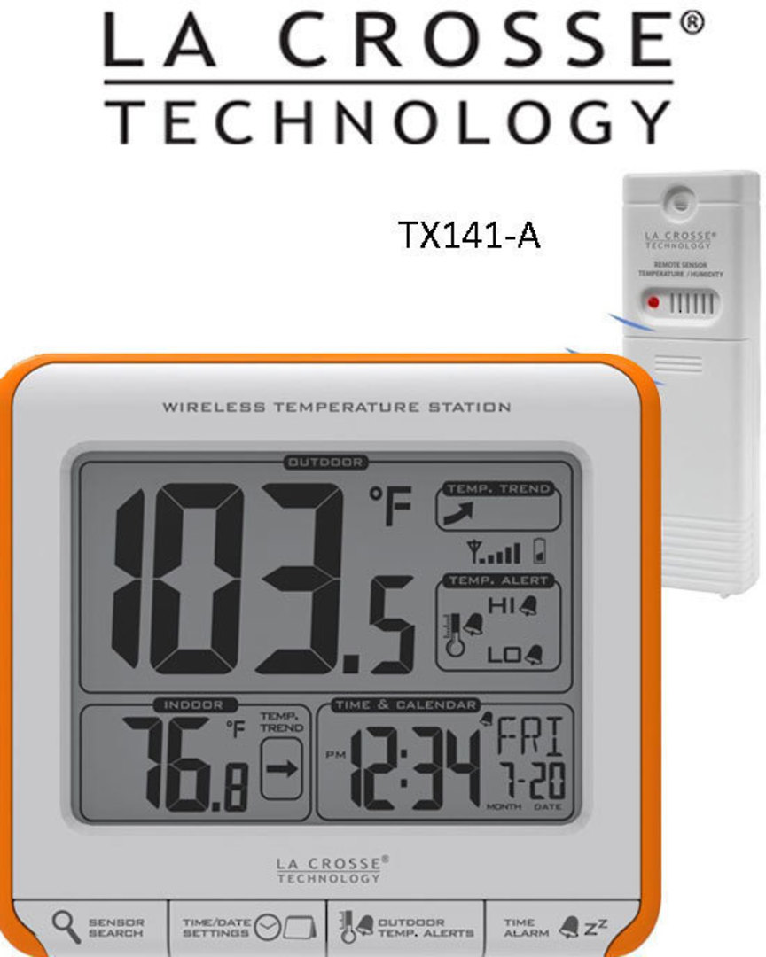 308-179OR Wireless 11cmx9cm Thermometer image 0