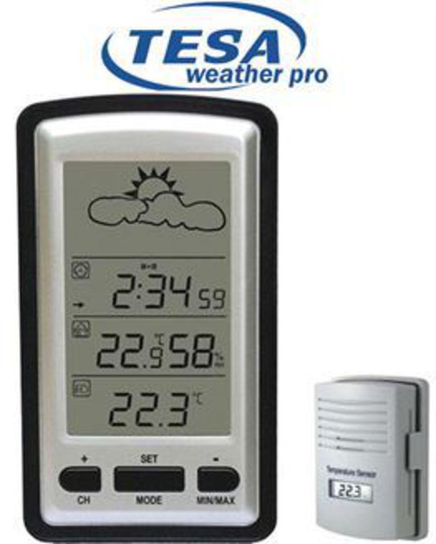 WS1281 TESA Wireless Weather Station take up to 3 Sensors image 0