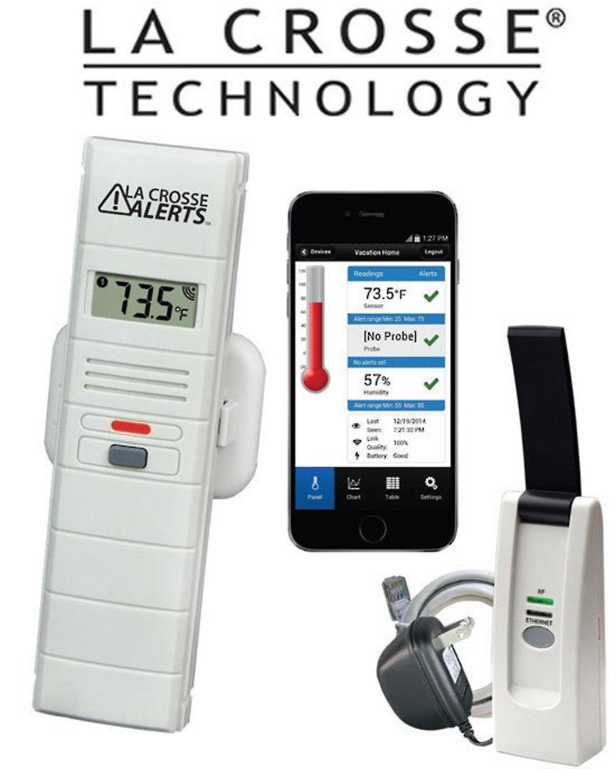 926-25100 La Crosse WIFI Temperature and Humidity Monitor Alert System image 0