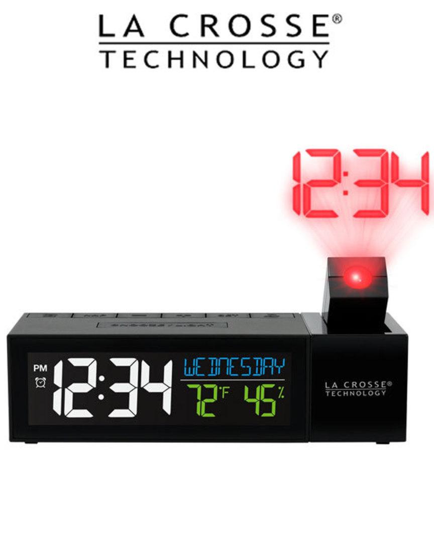 616-1950 Pop-Up Bar Projection Alarm Clock image 0