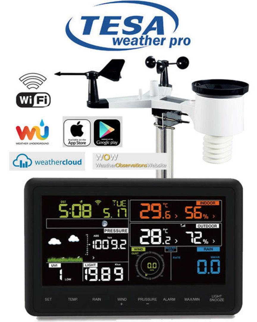 WS2980C-PRO TESA Professional WIFI Colour Weather Station image 0