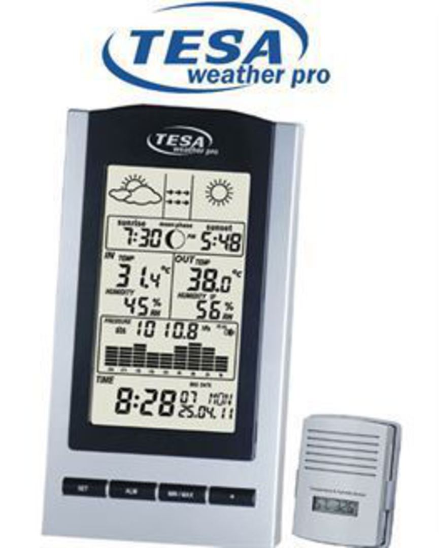 WS1151 Wireless Moon Phase Weather Station with Barometer image 0