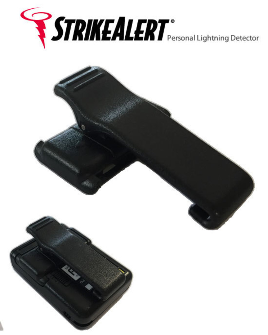 Belt Clip and Battery Cover for LD1000 Strike Alert Personal Lightning Detector image 0