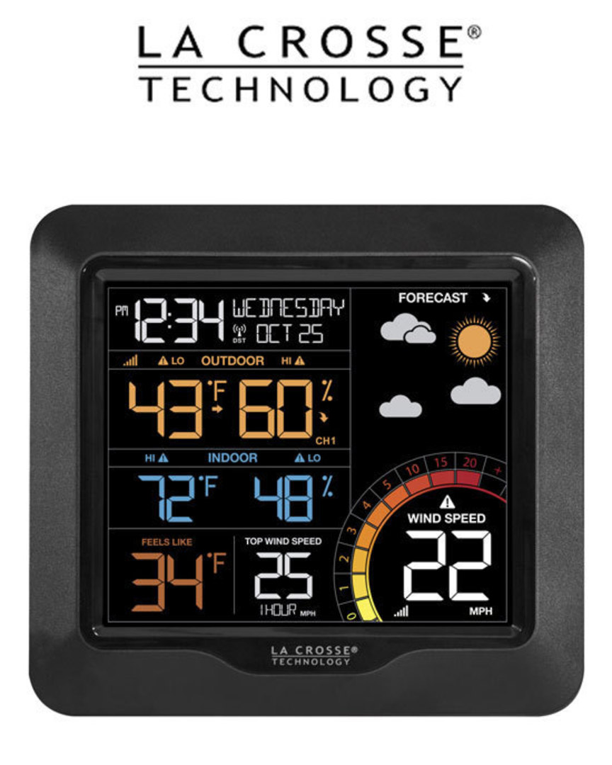 327-1417V2 Professional Colour Wind Speed Weather Station image 1