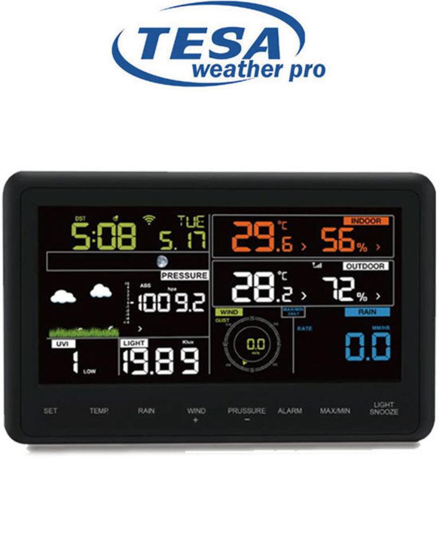WS2980C-PRO TESA Professional WIFI Colour Weather Station image 1