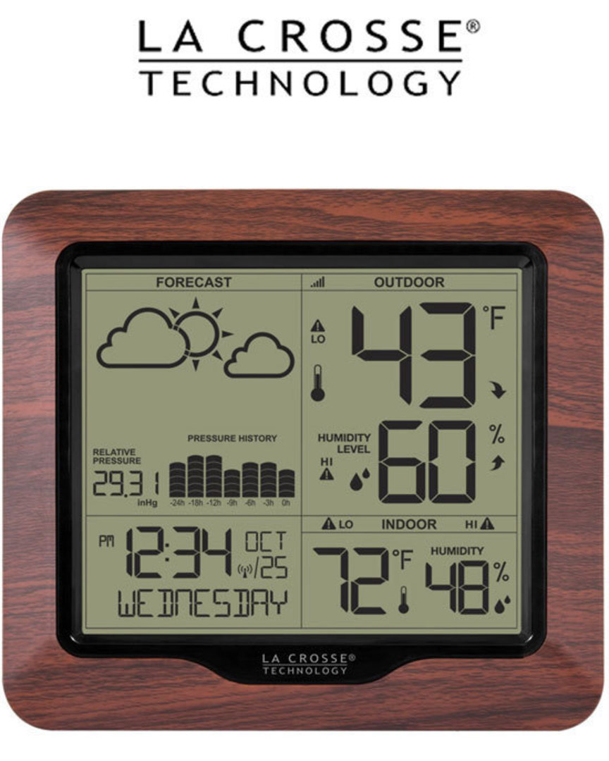 308-1417BLV2 Wireless Backlight Digital Forecast Station with Pressure History and Graph image 0