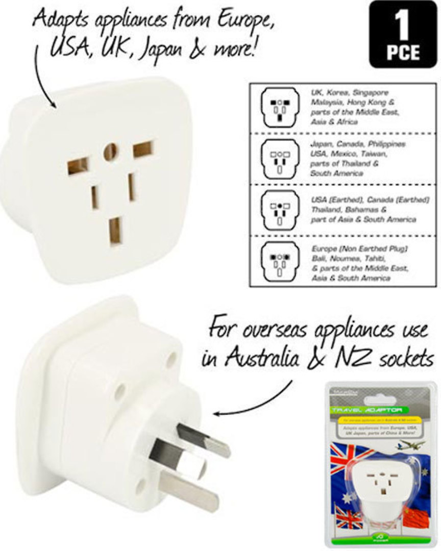 Travel Adaptor for USA use in Australia and NZ image 0