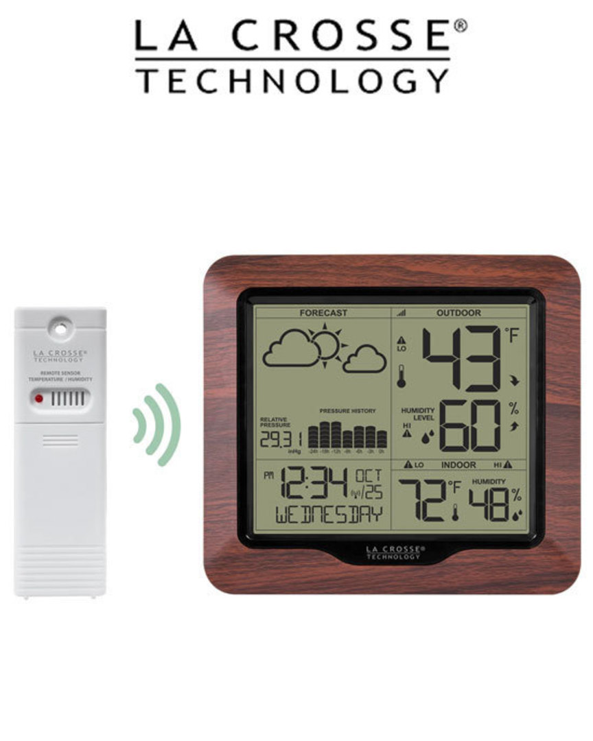 308-1417BLV2 Wireless Backlight Digital Forecast Station with Pressure History and Graph image 1