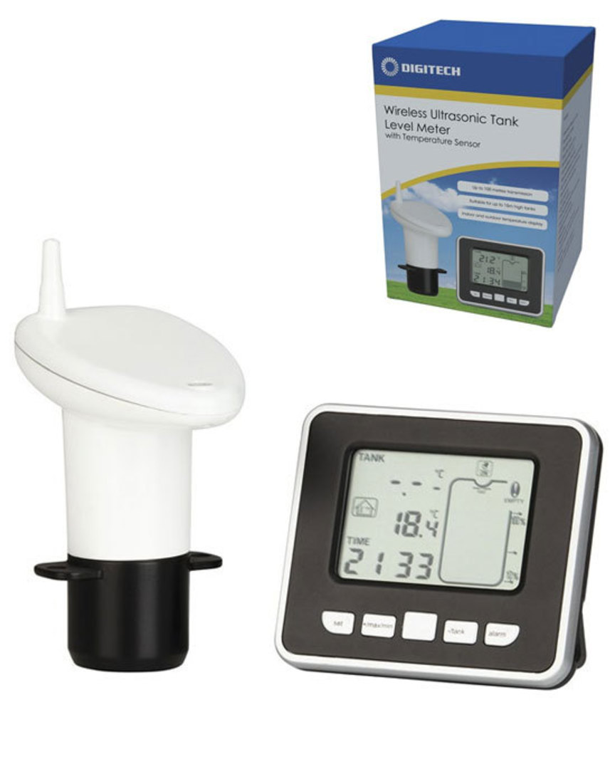 XC0331 DIGITECH Ultrasonic Water Tank Level Meter with Thermo Sensor image 0