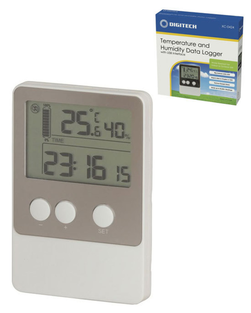 XC0424 DIGITECH USB Temperature Humidity Data Logger image 0