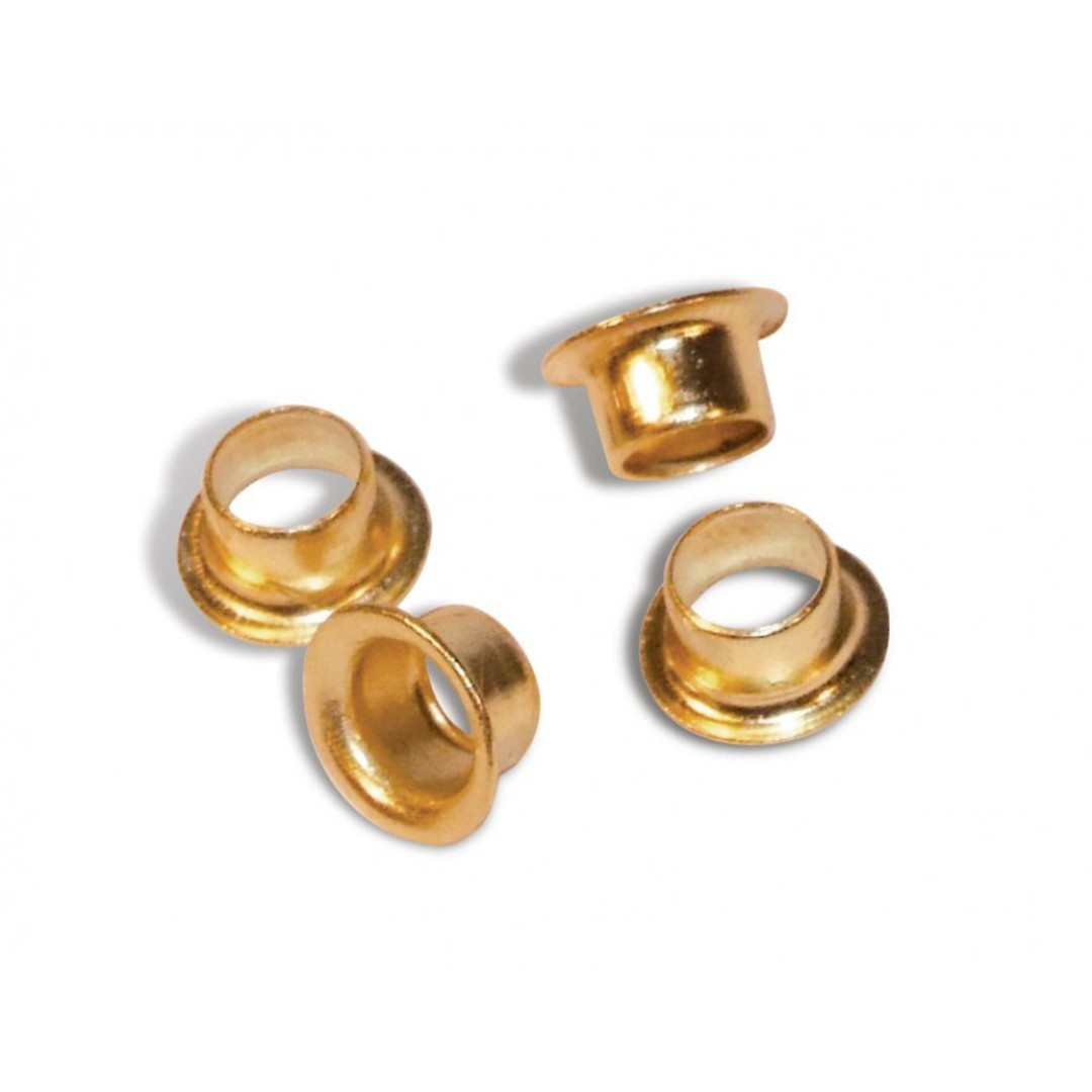 4.9 x 2.6 Brass Plated Eyelets #64 image 0