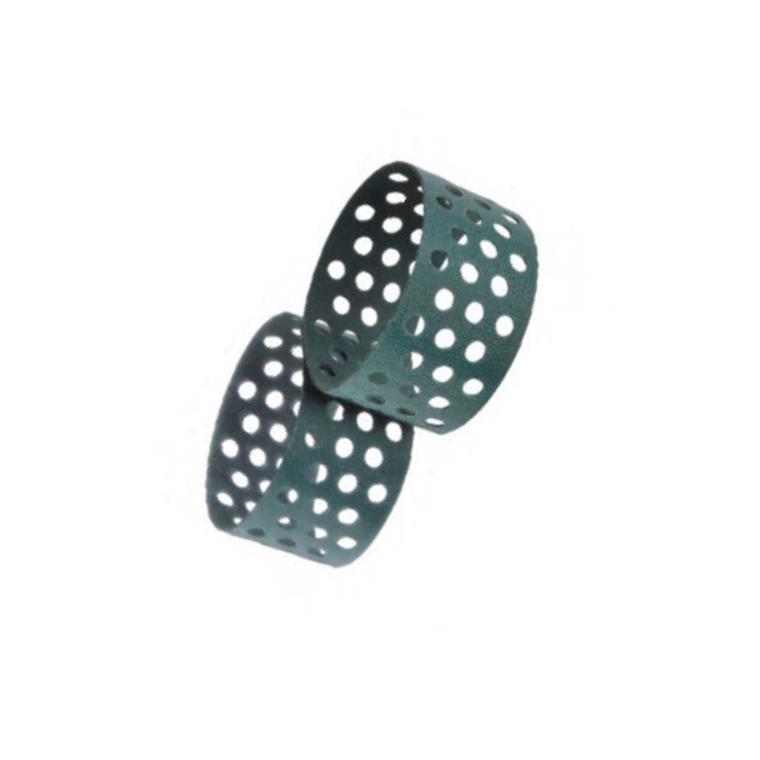 Slow Down Belt Flat Green Perforated image 0