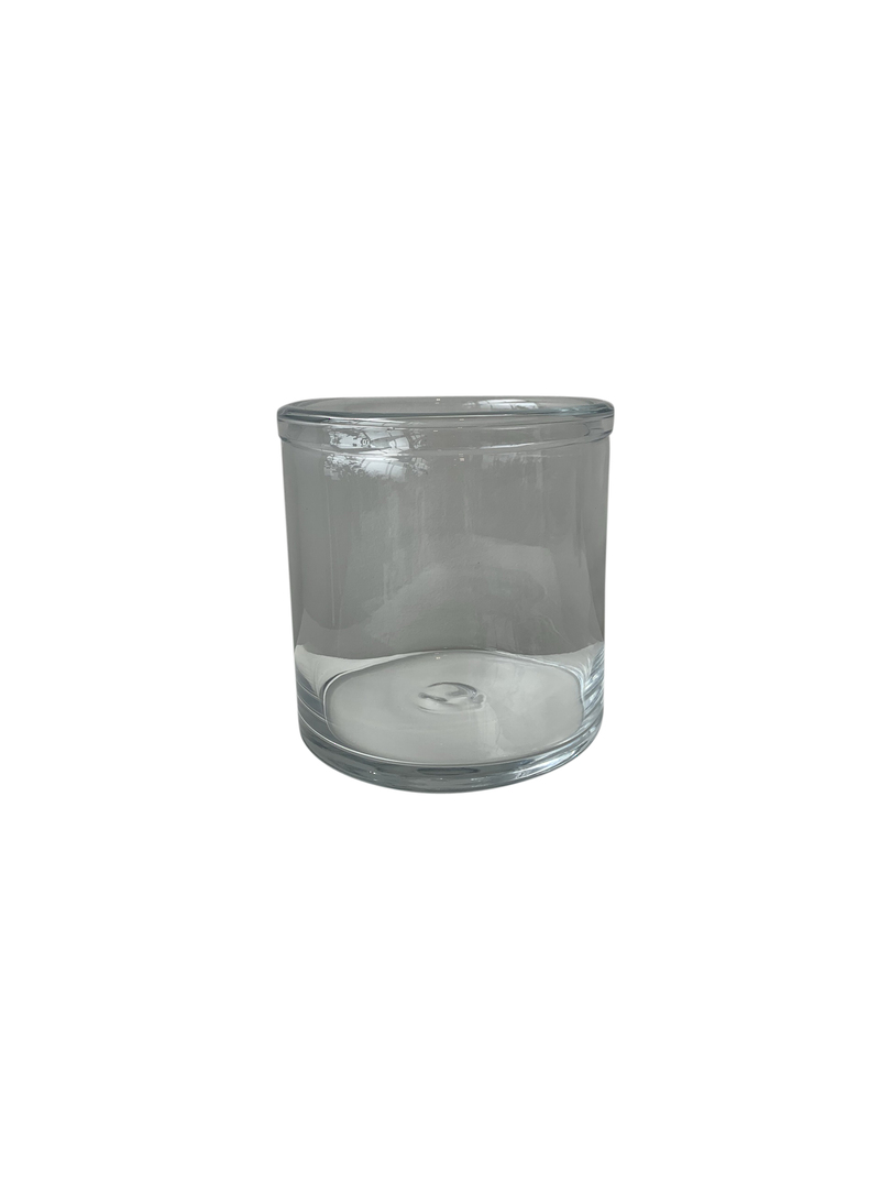 GLASS VASE WITH ROLLED RIM MED - MIN 2 image 2