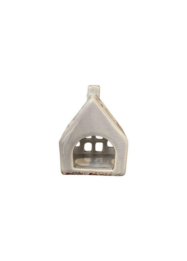 HOUSE WITH CROSS WINDOW TEALIGHT HOLDER MED image 3