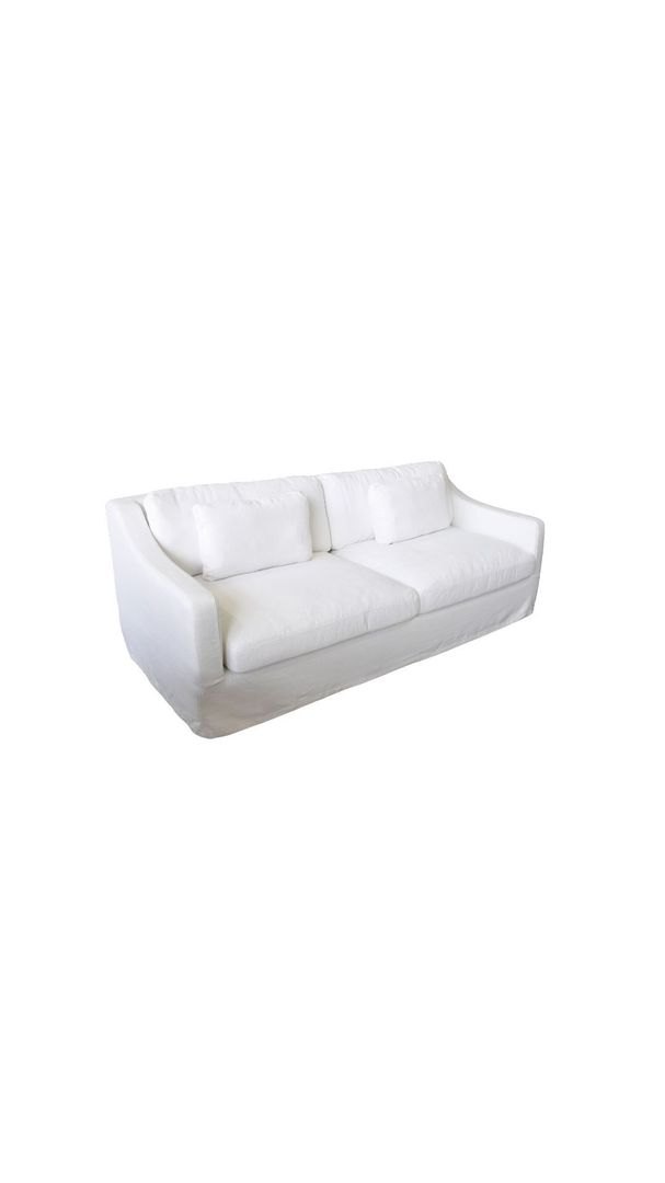 CONNECTICUT SOFA THREE SEATER WHITE image 2