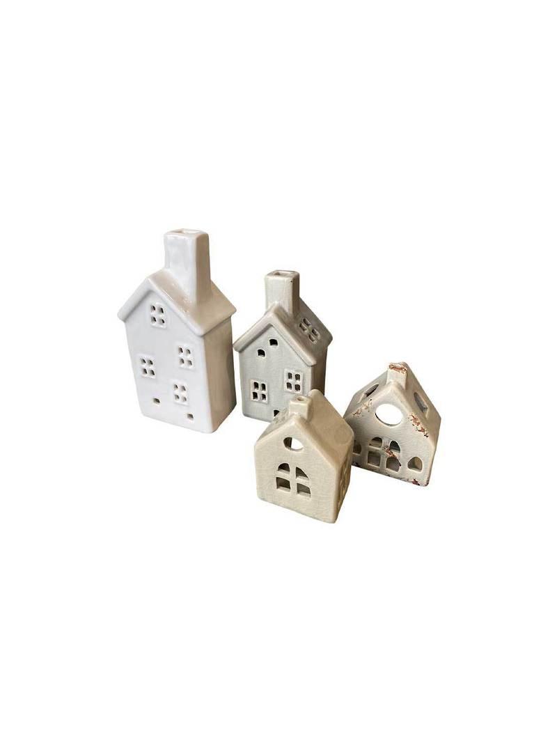 HOUSE WITH CROSS WINDOW TEALIGHT HOLDER SML image 5