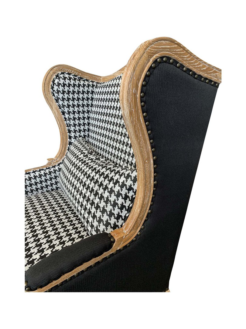 HOUNDSTOOTH BLACK & WHITE OCCASIONAL CHAIR image 5