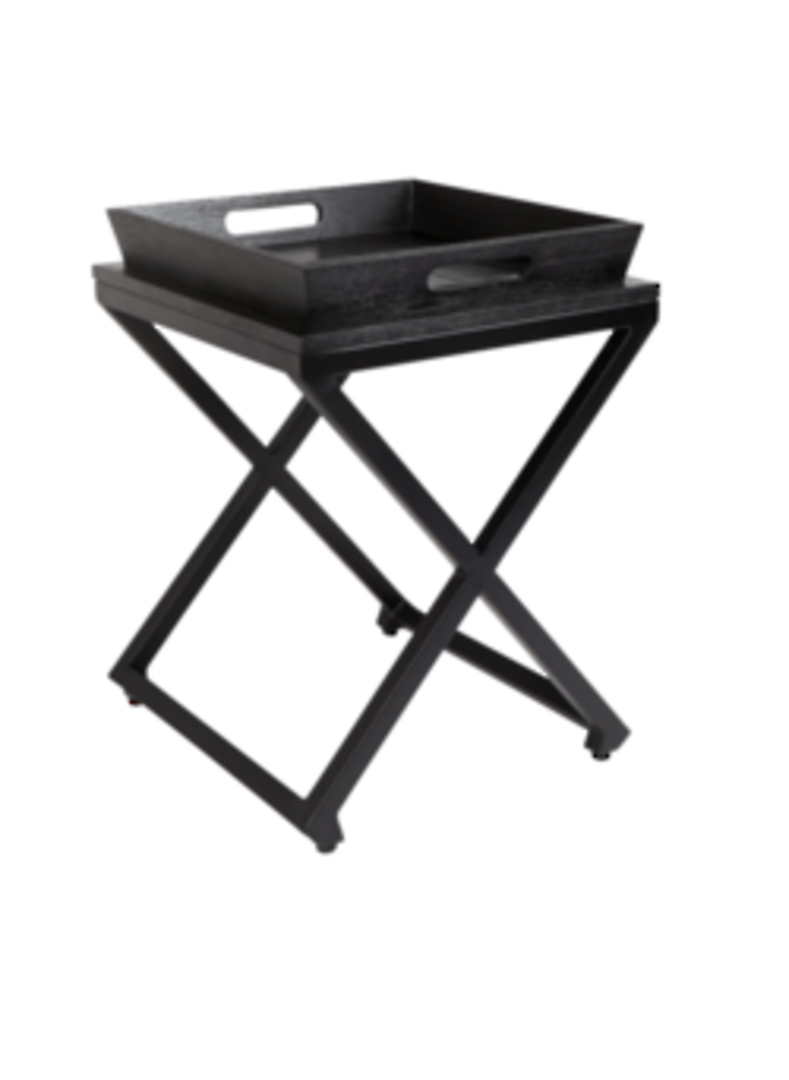 CHICAGO SIDE TABLE W/REMOVABLE TRAY BLACK image 1