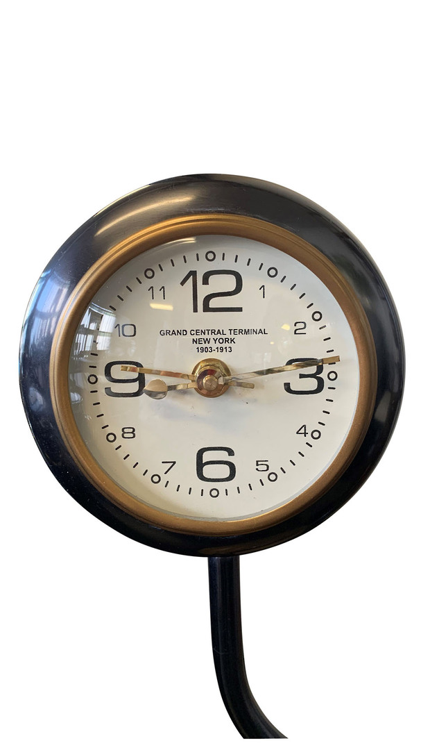 TABLE LAMP WITH CLOCK image 1