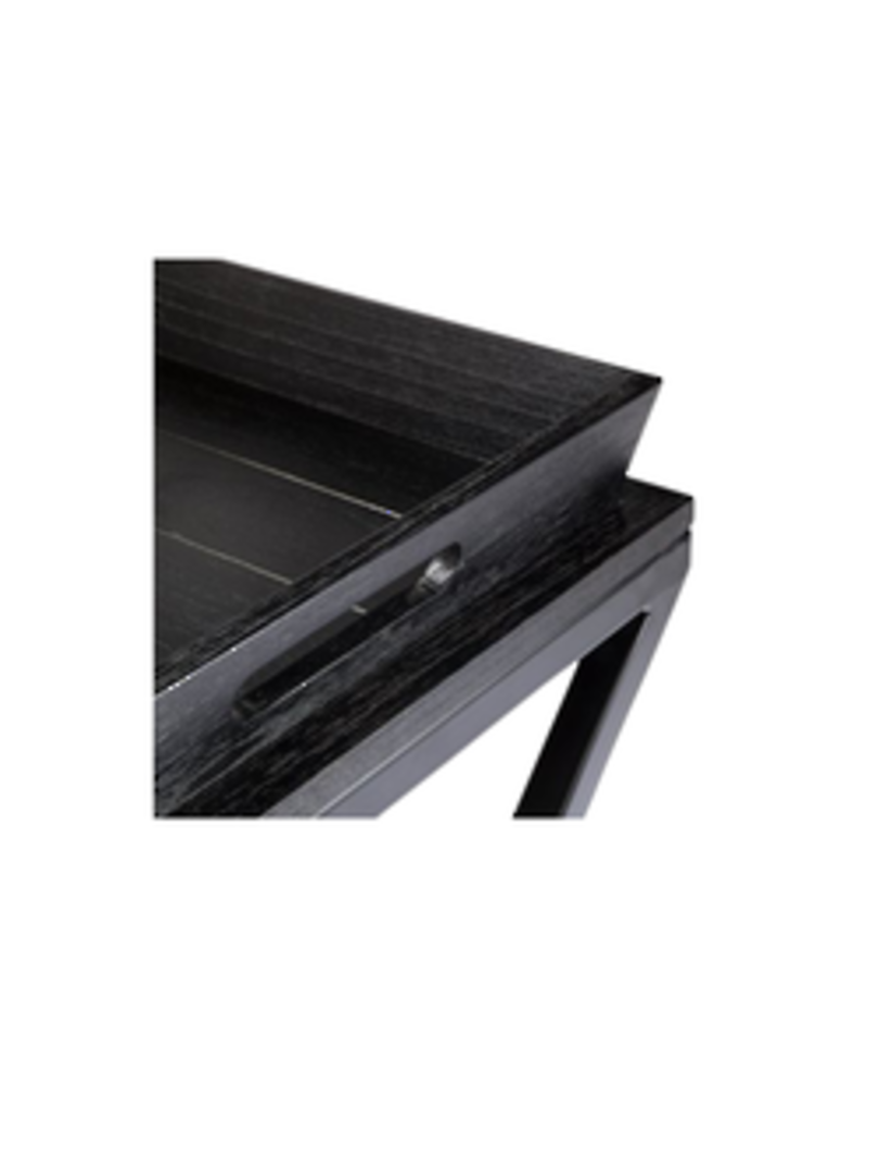 CHICAGO SIDE TABLE W/REMOVABLE TRAY BLACK image 2