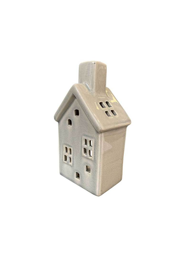 HOUSE WITH 2 WINDOWS TEALIGHT HOLDER image 1