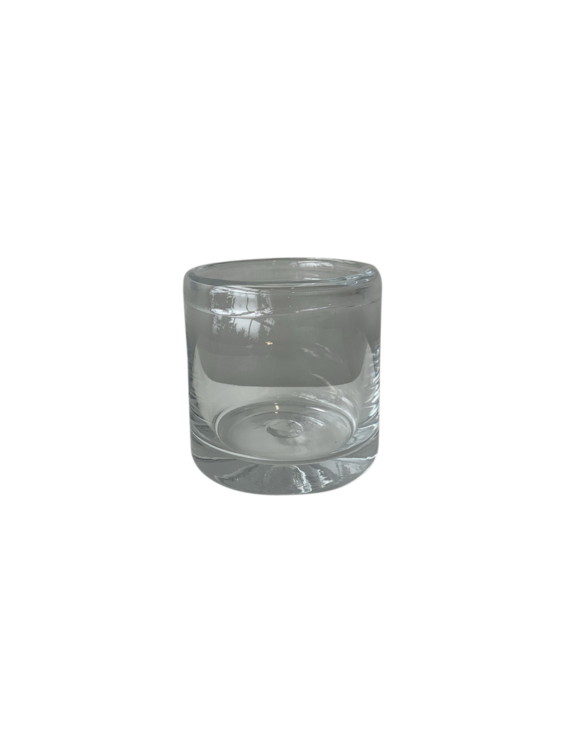 GLASS VASE WITH ROLLED RIM LGE - MIN 2 image 2
