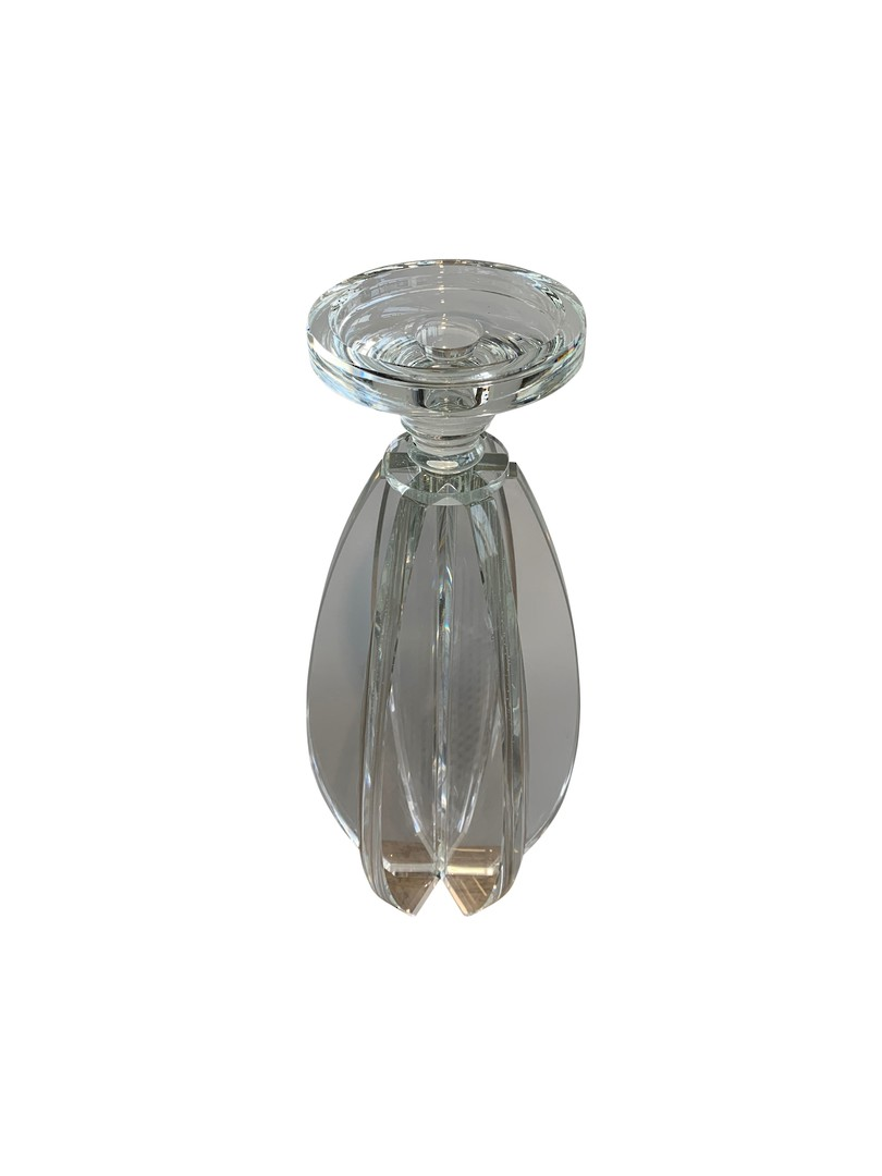 CRYSTAL CANDLE HOLDER WITH CUT SPHERE DESIGN SML image 1