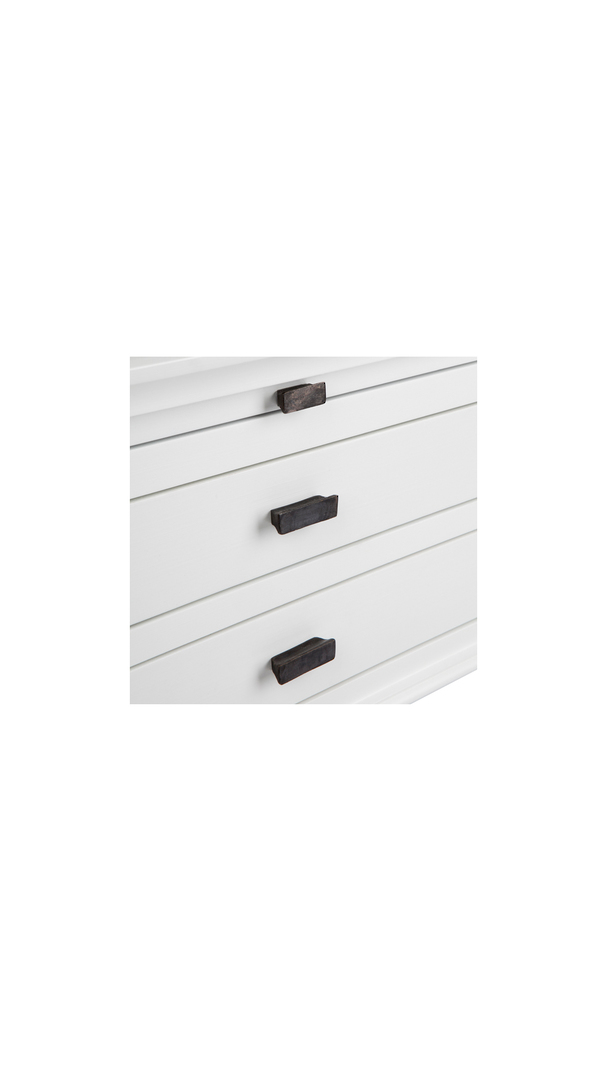 WELLESLEY SIDE TABLE WITH 2 DRAWERS WHITE image 2