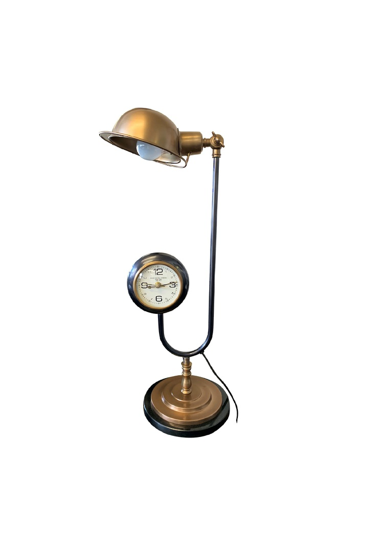 TABLE LAMP WITH CLOCK image 0