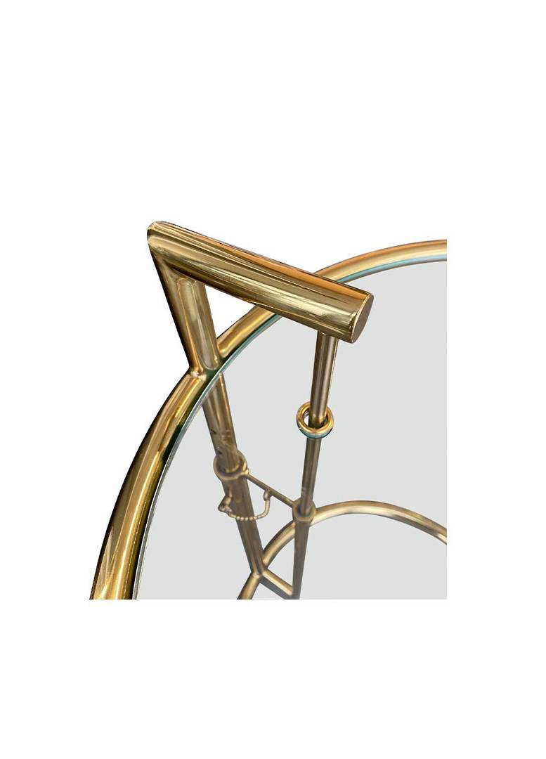 ADJUSTABLE ROUND SIDE TABLE GOLD image 2