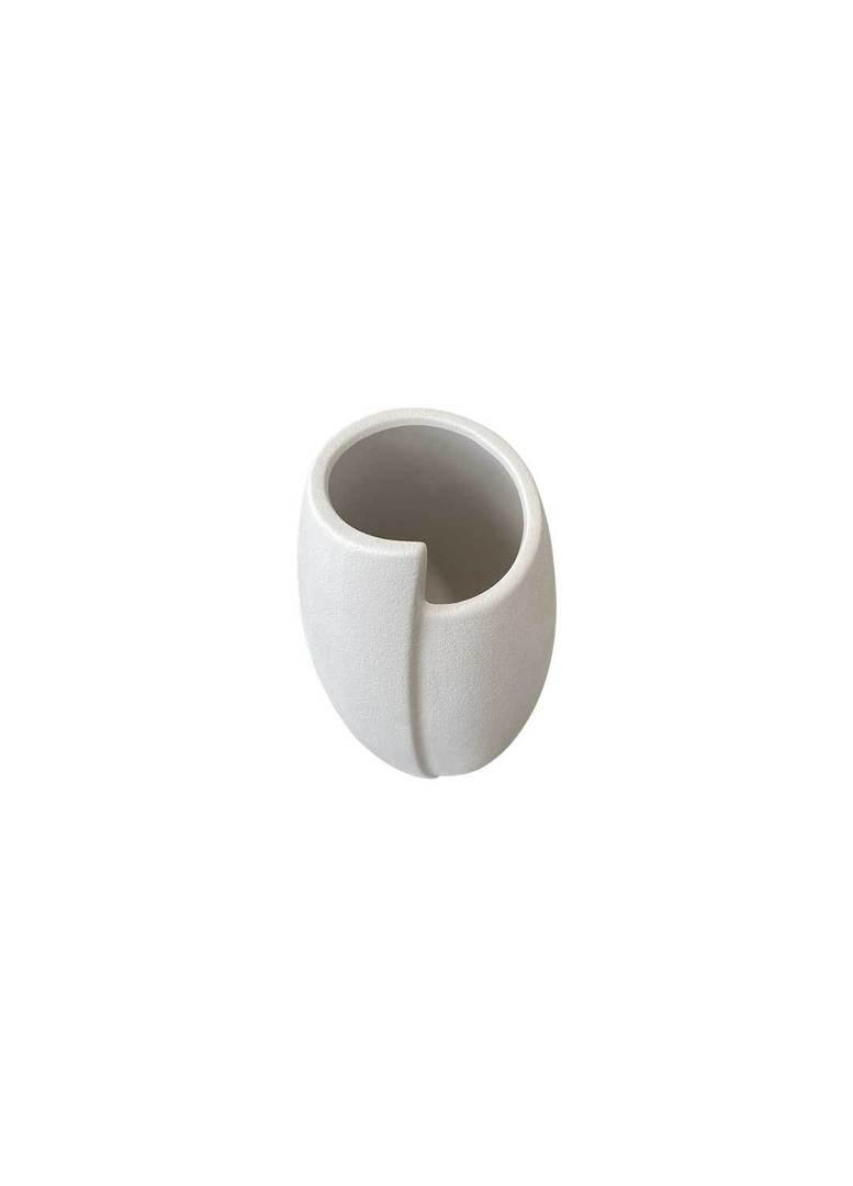 IRREGULAR WHITE VASE image 1