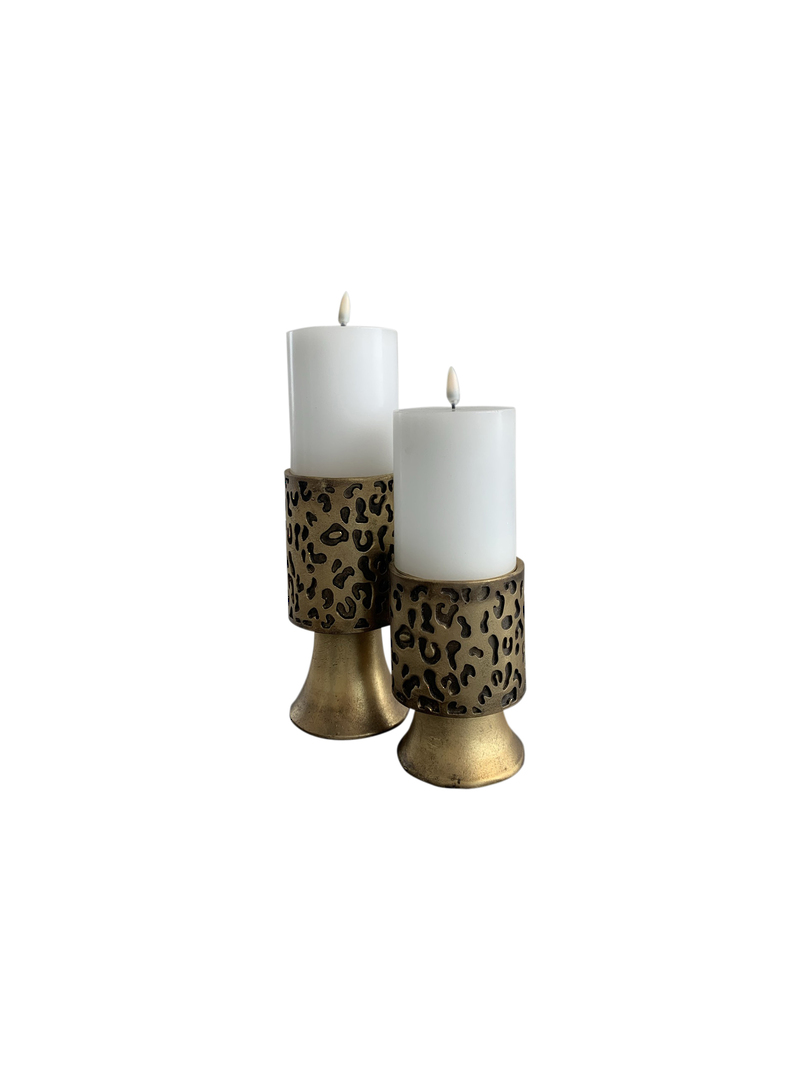 LEOPARD DESIGN CANDLE HOLDER SML image 2
